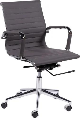 Cadeira Office Baixa Cinza Base Rodízio Or Design Or-3301
