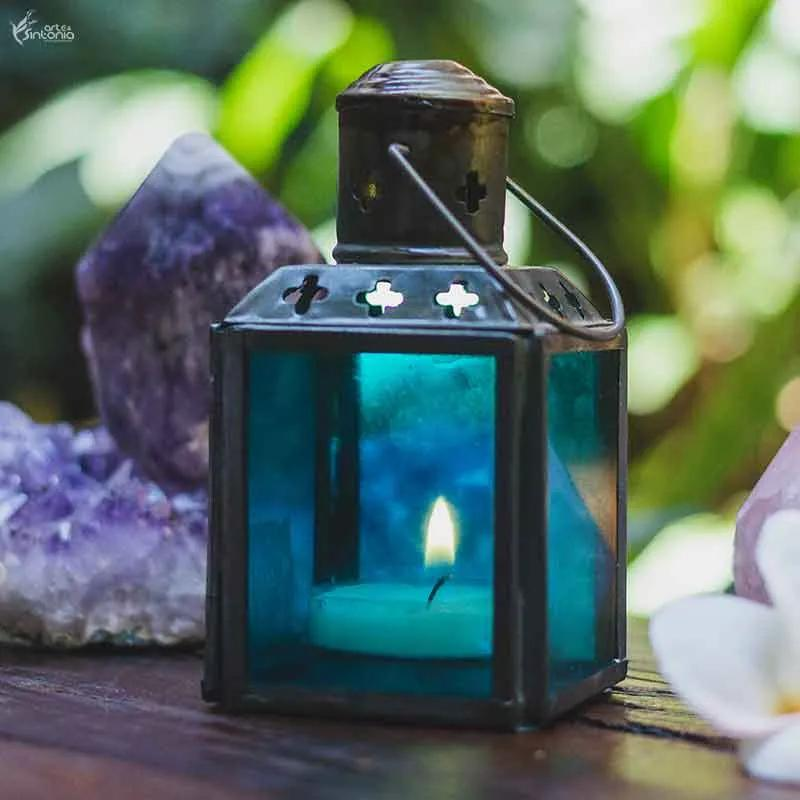Lanterna Indiana Azul 11cm