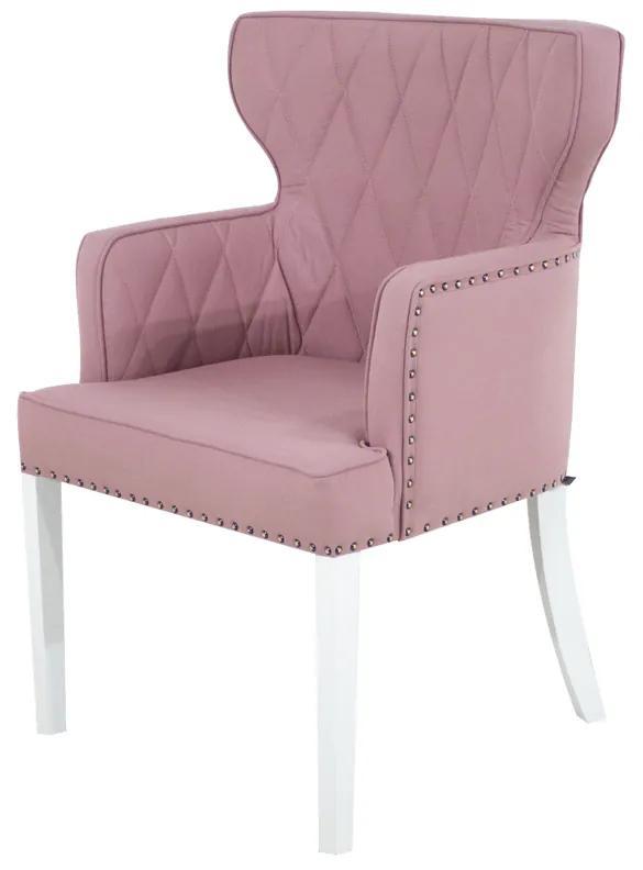 Cadeira de Jantar Estofada Matelassê com Tachas  - Wood Prime PP 33308