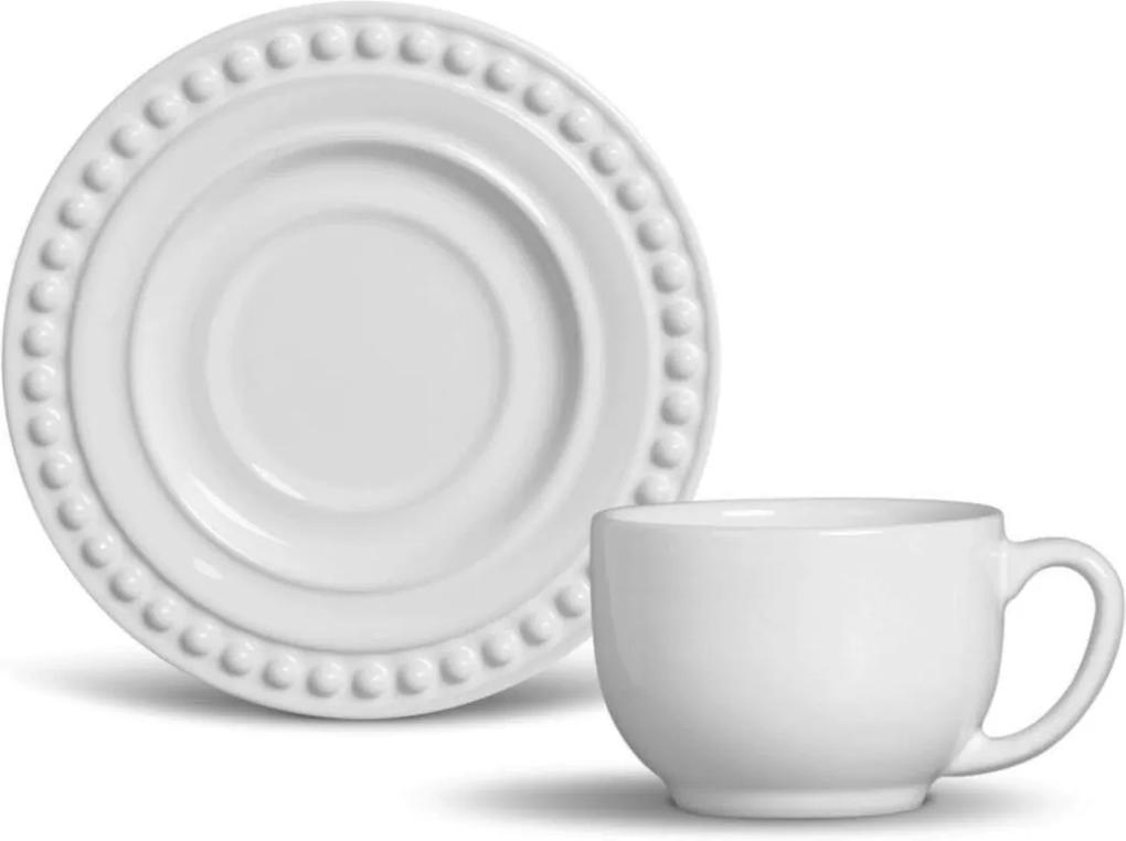 Xícara De Chá Porto Brasil Mônaco 12Pçs Branca