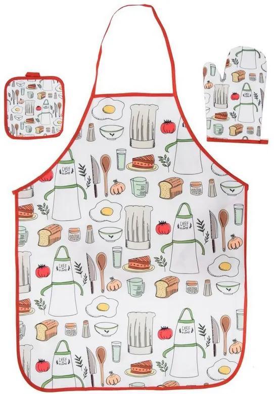 Kit Cozinha Avental, Luva e Descanso de Panela - Food