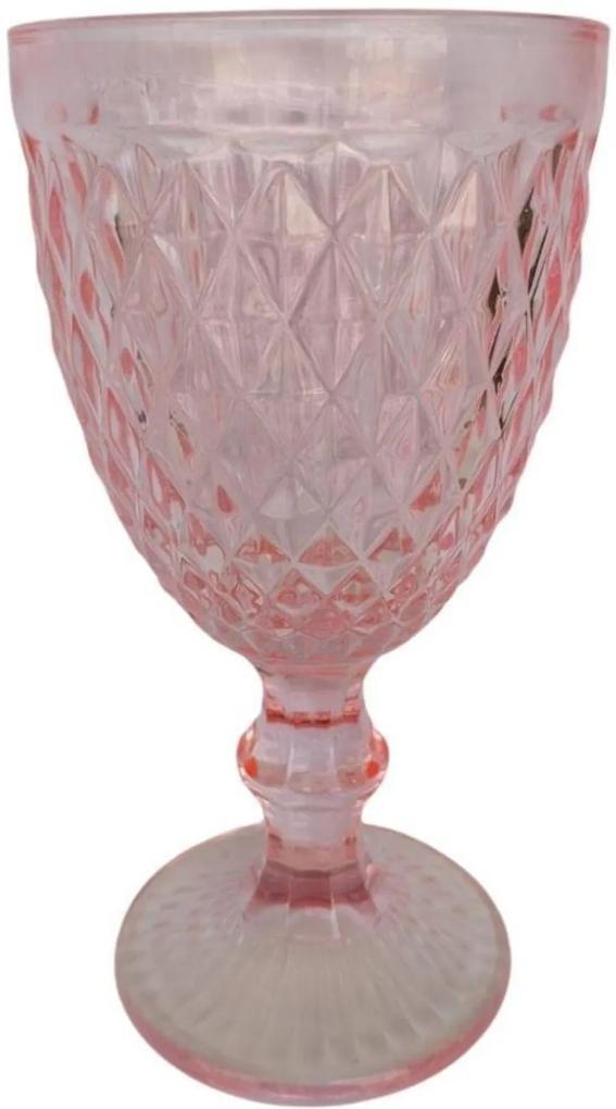 Jogo de 6 Taças em Vidro para Água Quartzo Verre 320ml Rosa