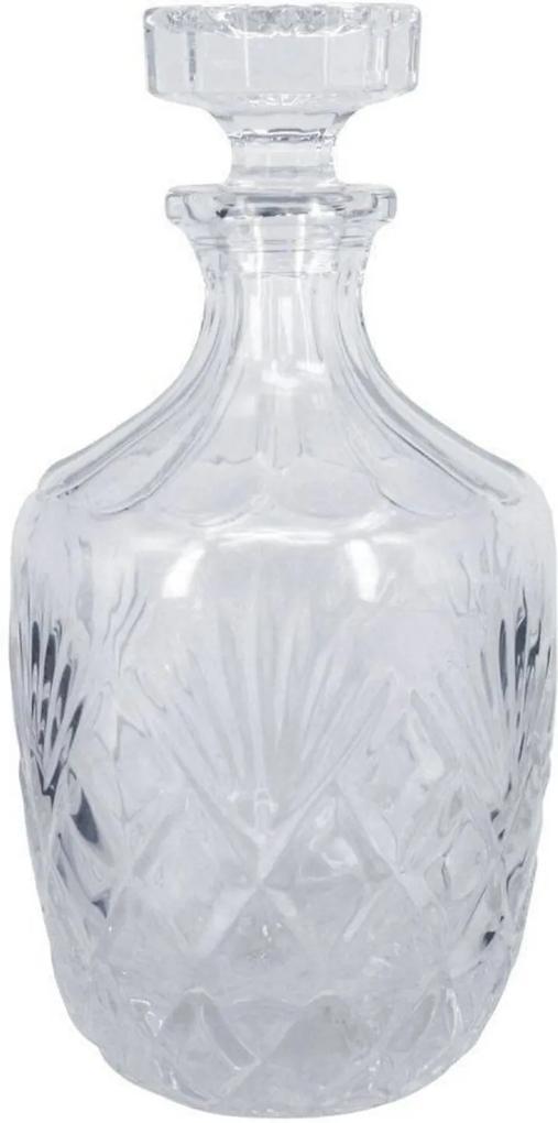 Garrafa Decorativa De Vidro Transparente