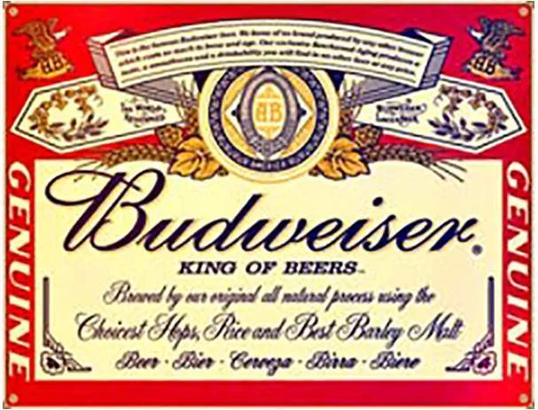 Placa Decorativa Budweiser I