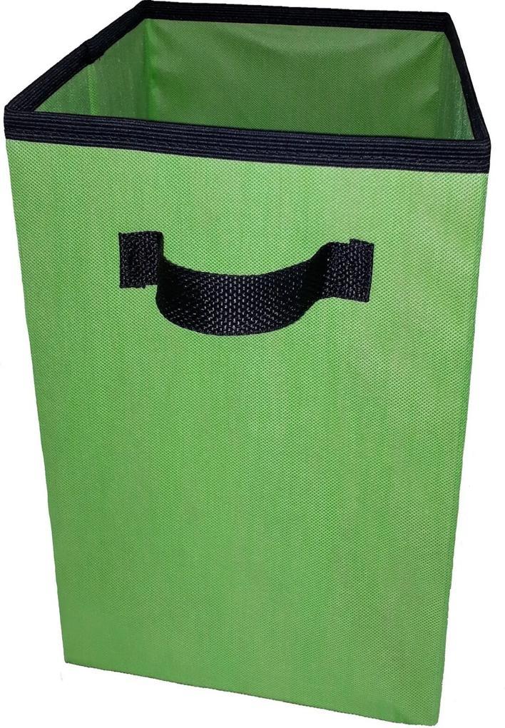 Caixa Organizadora De 28X30X28 Verde Limão Com Alça