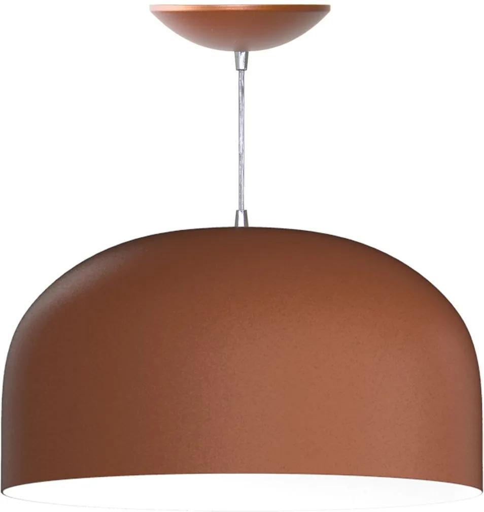 Pendente Meia Esfera de 55 Cm (bronze / Branco)