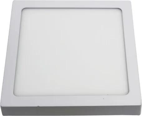 Plafon Sobrepor Quadrado Alumínio Branco Led 48W