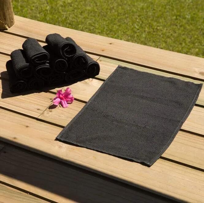 Toalha para Manicure e Pedicure - 28x45cm - Princesa - Preto