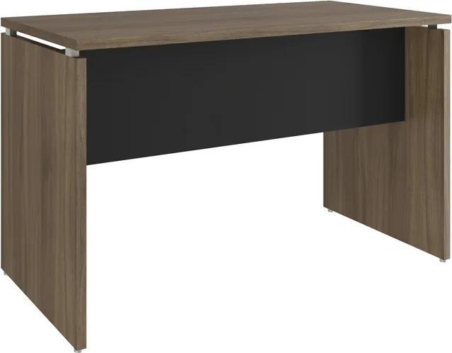 Mesa para Escritório 1200x600 Win Nogueira com Preto