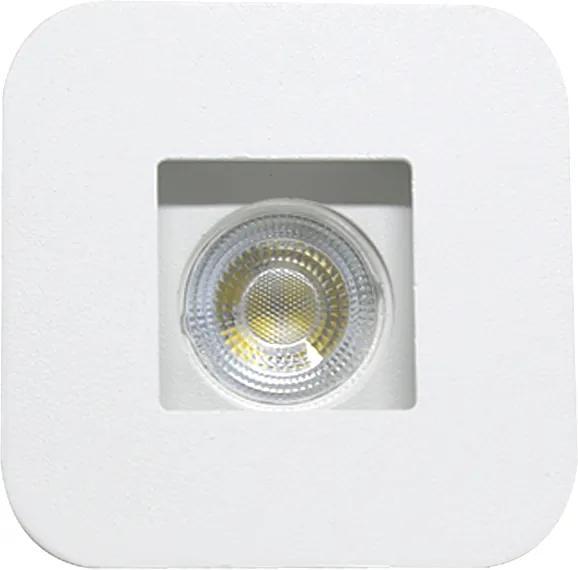 Plafon Embutir Aluminio Inox Branco 8cm