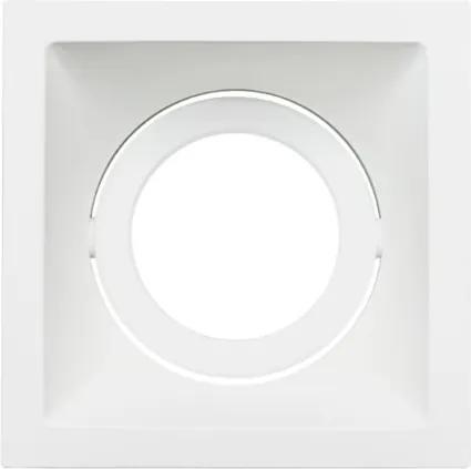 Plafon Embutir Aluminio Branco Par20 E27 Square