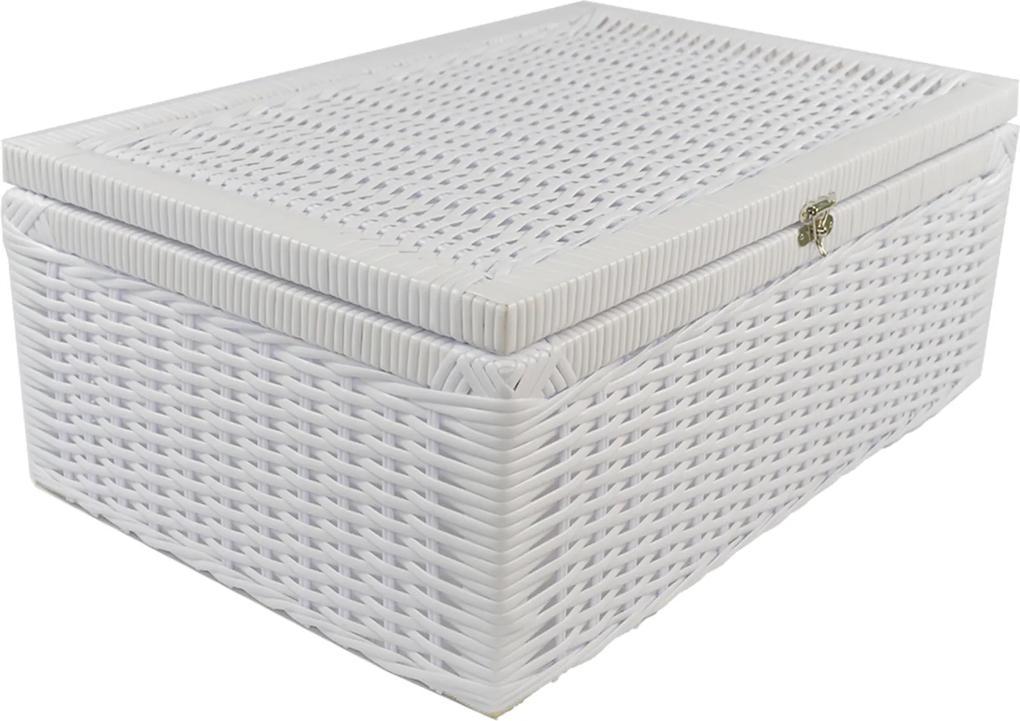 Caixa Organizadora Fibra Sintetica 50x35x20 - Branco