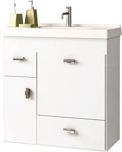 Toucador para Banheiro com Cuba 60cm Branco - Orquídea - Cozimax - Cozimax