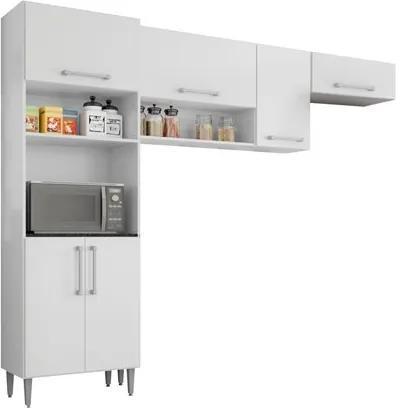 Cozinha Compacta 6 Portas Sharmila Branco - Poquema