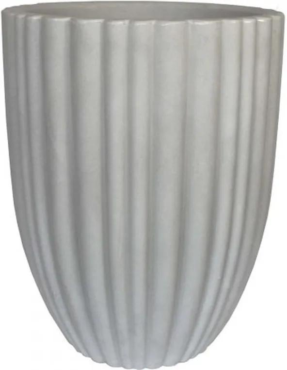 Vaso Polietileno Estilo Vietnamita Cacau D32cm x A46cm Antique Branco