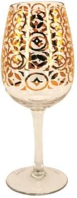Conjunto de Taças De Vinho em Vidro Cristalino Natal 6 peças
