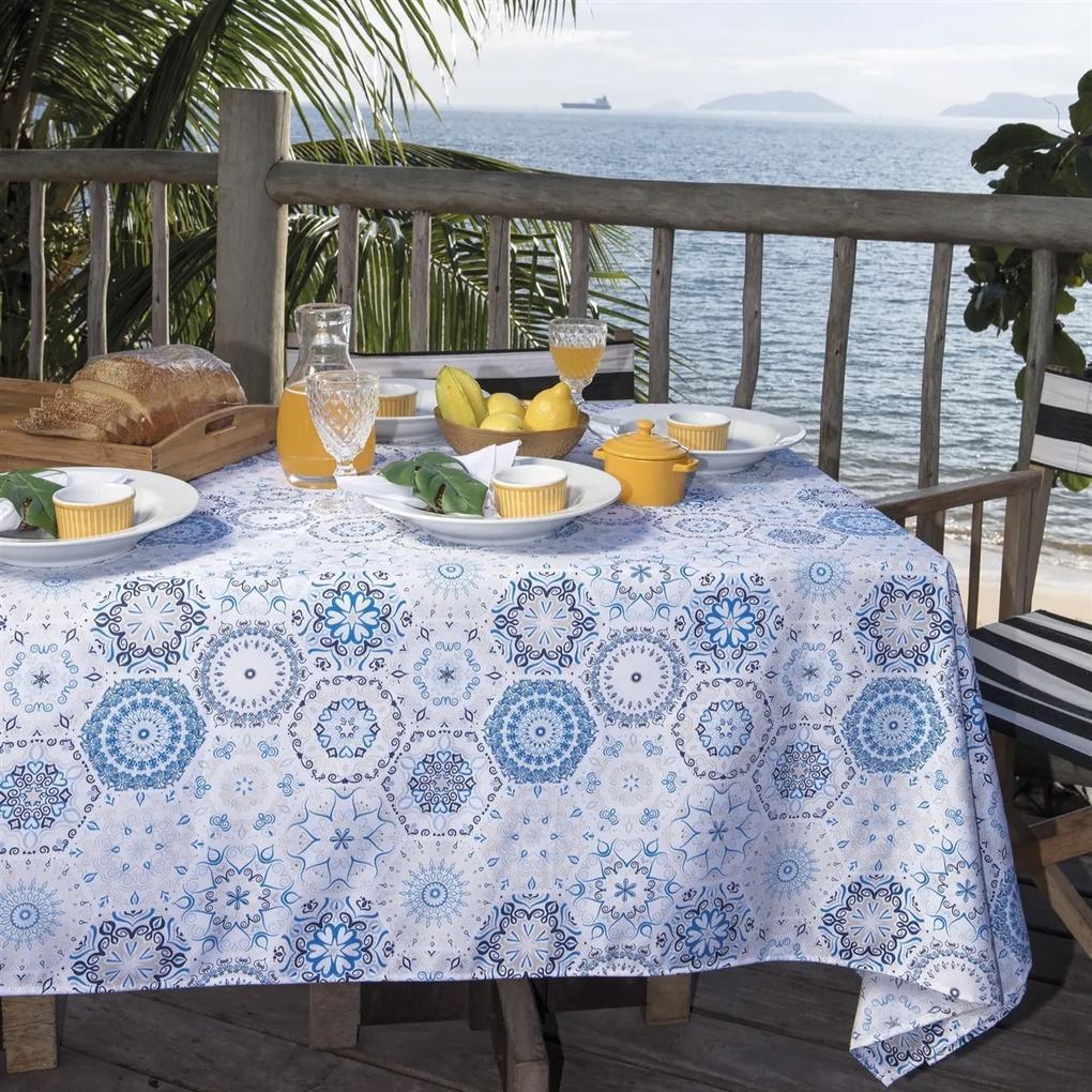Toalha de mesa Retangular Impermeável 12 Lugares - Cont