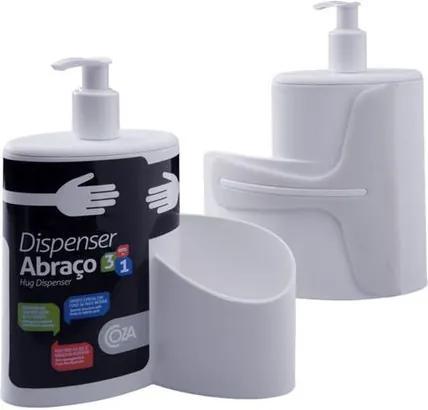 Dispenser Abraço Branco 600ml 10864/0007 - Coza - Coza