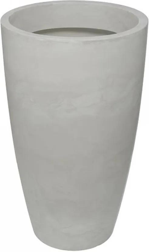 Vaso Polietileno Estilo Vietnamita Verona D64cm x A110cm Antique Branco