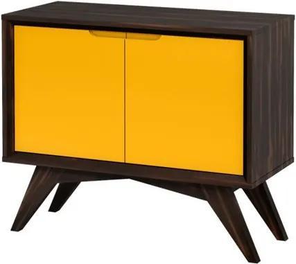 Buffet Uriel 2 Portas Envelhecido e Amarelo - Wood Prime MP 27576