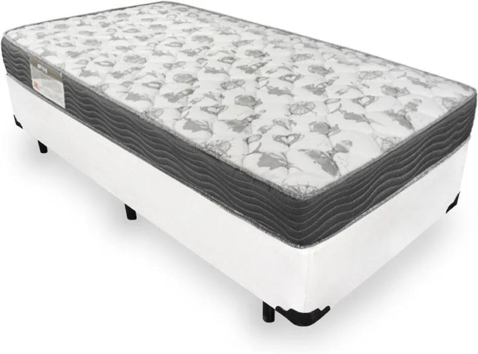 Cama Box Solteiro + Colchão De Espuma D33 - Ortobom - Iso 100 88x188x53cm Branco
