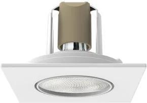 Spot Embutir Interlight PAR20 Face Plana Quadrado Preto IL0092