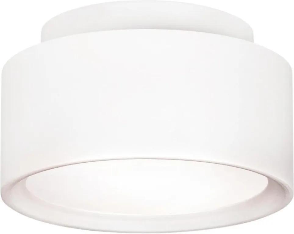 Plafon Sobrepor Aluminio Branco 16cm Ring