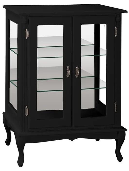 Vitrine Média com Prateleiras de Vidro e Espelho - Wood Prime MY 907281