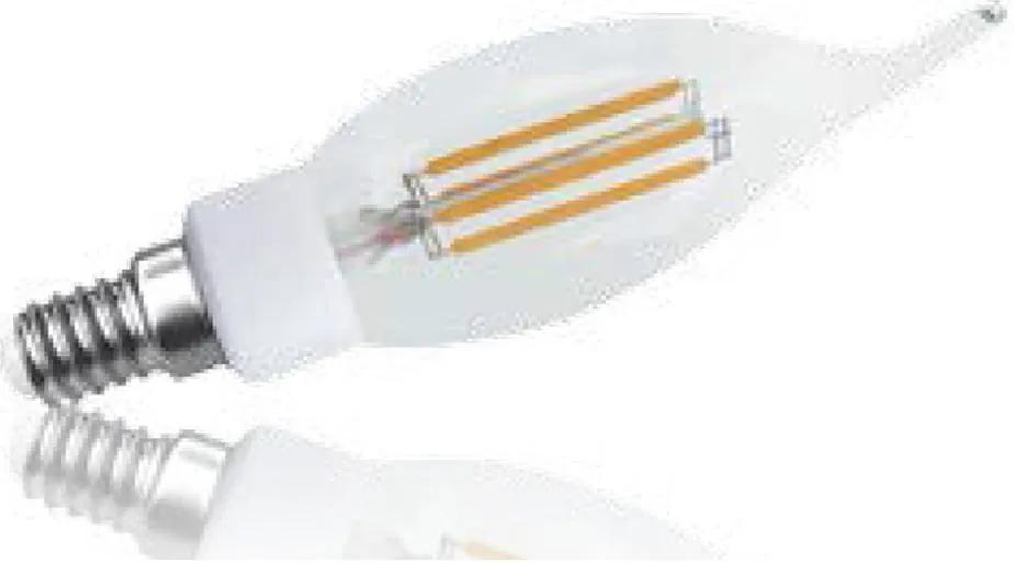 lâmpada VELA filamento led 3w quente Bella LP148