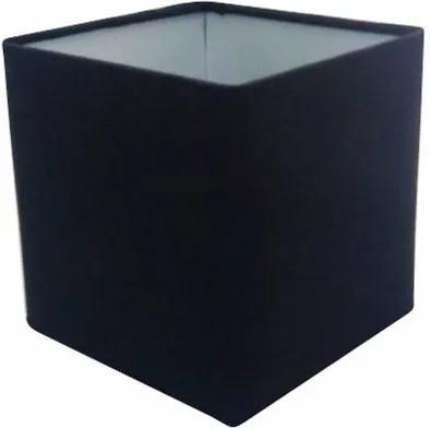 Cúpula em Tecido Quadrada Abajur Luminária Cp-25/25x25cm Preto