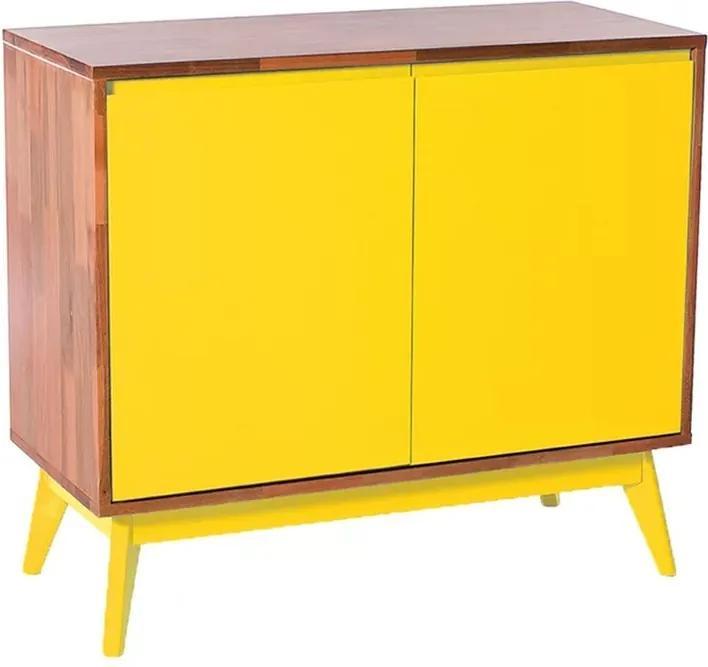 Buffet 2 Portas Natural C/ Amarelo