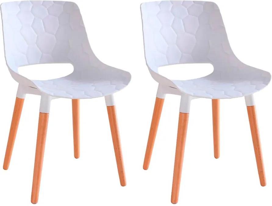 Kit 2 Cadeiras Decorativas Para Salas e Cozinhas LivClean (PP) Branco - Gran Belo