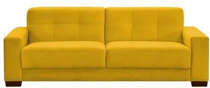 Sofá Ventura 160cm 2 Assentos 2 Lugares Suede Amarelo - D'Monegatto