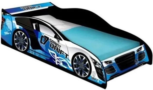 Cama Carro Drift Infantil Azul- J&A Móveis