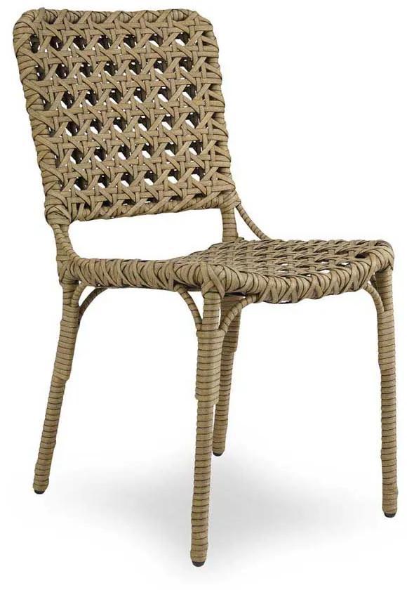 Cadeira Buca Área Externa Fibra Sintética Estrutura Alumínio Eco Friendly Design Scaburi