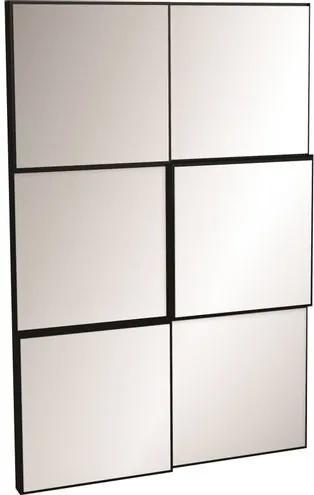 Quadro Espelho Block Mini 50cm (LARG) cor Preto Brilho - 52875 Sun House