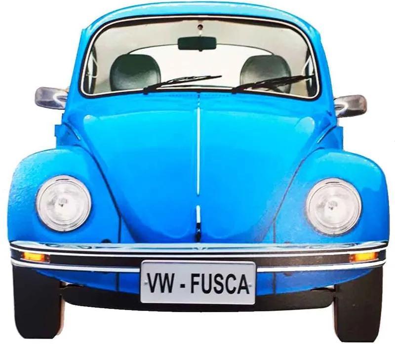 Placa Decorativa Mdf Fusca Azul