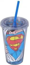 Copo com Canudo Super Homem DC Comics