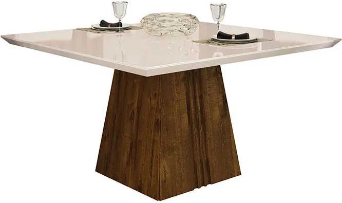 Mesa de Jantar Paris para 8 Cadeiras 140cm Rústico Malbec Off White