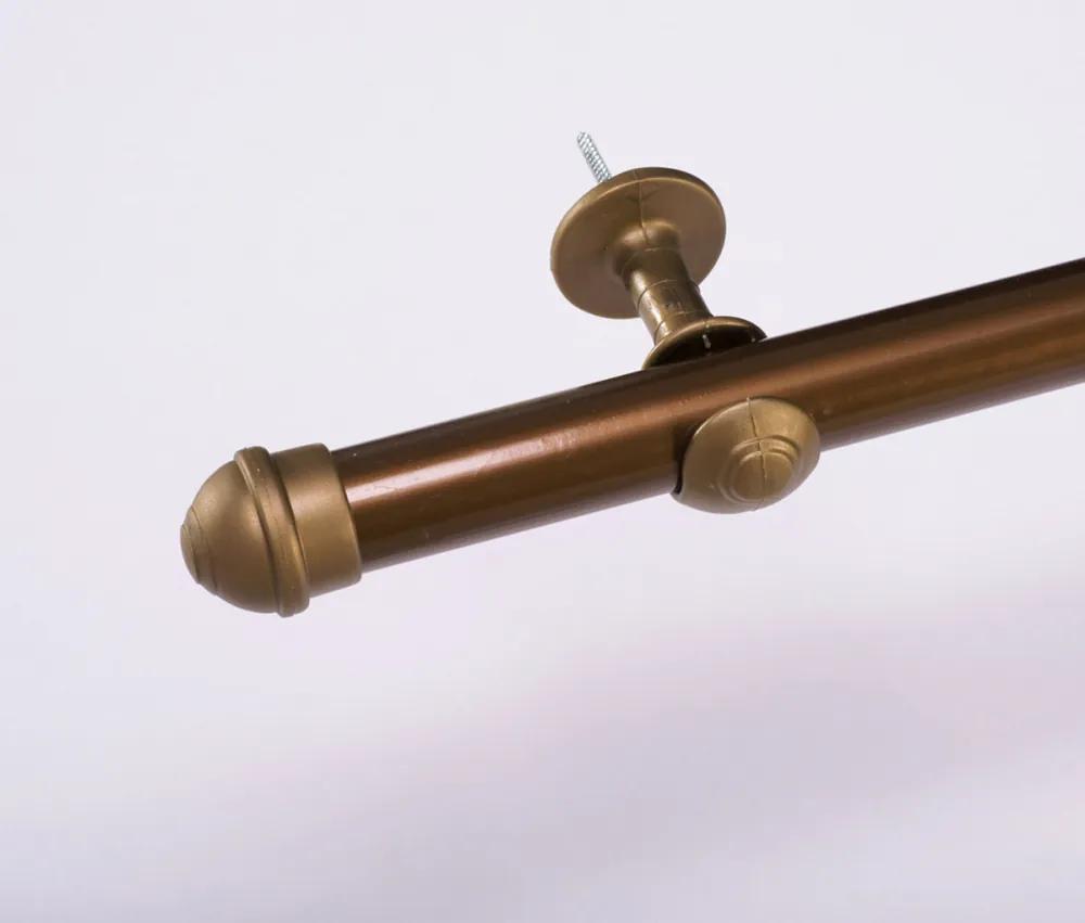 Varão Simples para Cortina de 4 Metros Espessura 28mm - Ouro Velho