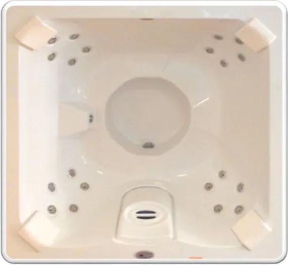 Banheira SPA Hidromassagem J185 com 20 jatos 180x180x089cm para 4 pessoas com aquecedor, apoio cabeça e fechamento - Jacuzzi - Jacuzzi