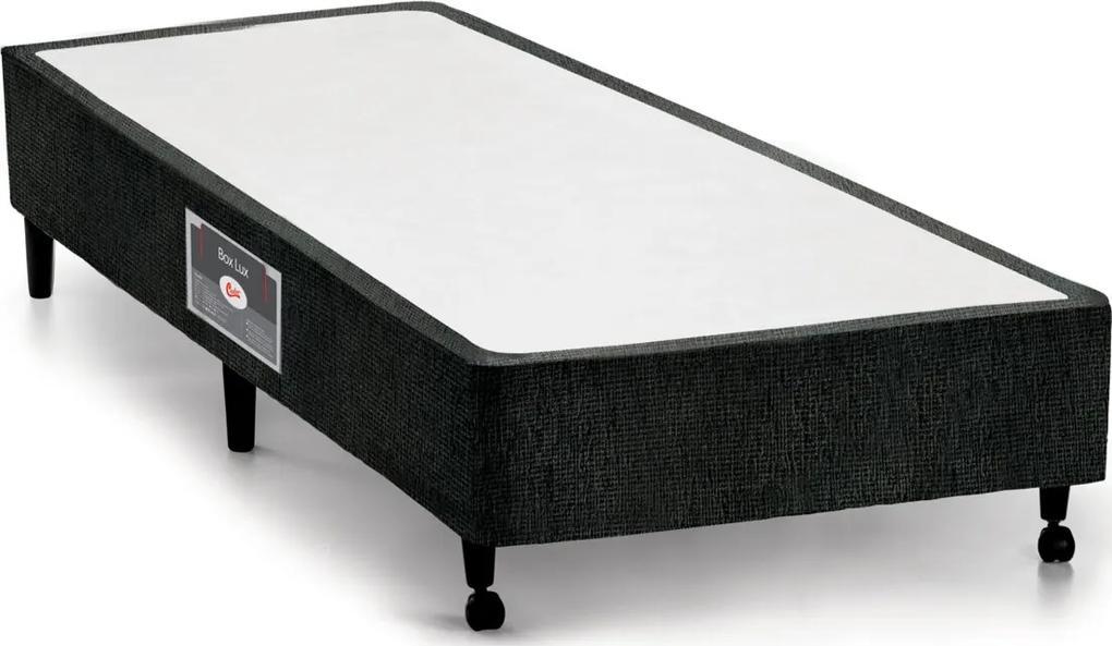 Box Solteiro 78X188X27 Lux Preto Castor