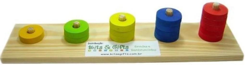 Ábaco de Contar Kits e Gifts Madeira - Amarelo