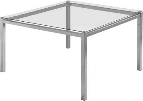 Mesa de Jantar Flex com Tampo de Vidro Quadrado Base Cromada 1,40 MT (LARG) - 55652 Sun House