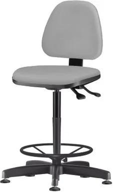 Cadeira Sky Assento Courino Cinza Claro Base Caixa Fixa Metalica Preta - 54817 Sun House