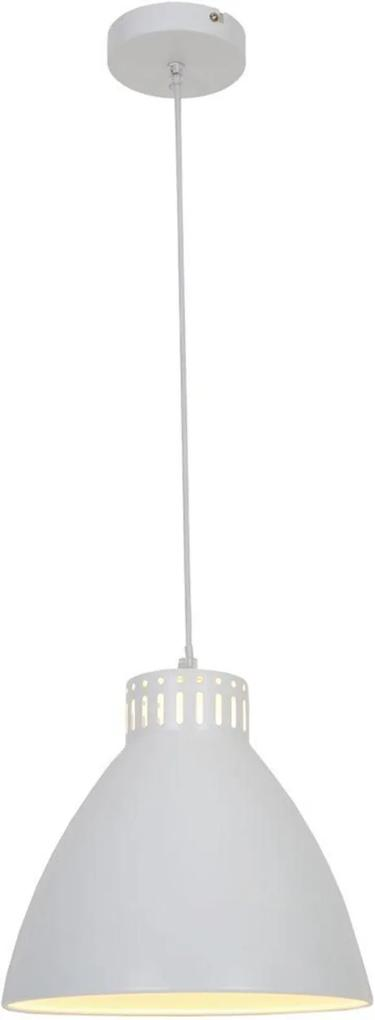 Pendente luminaria retro Lamp Show 128x28x28 metal branco