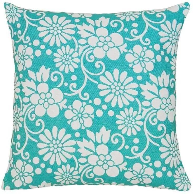 Capa de Almofada Flor Azul Escuro 45x45