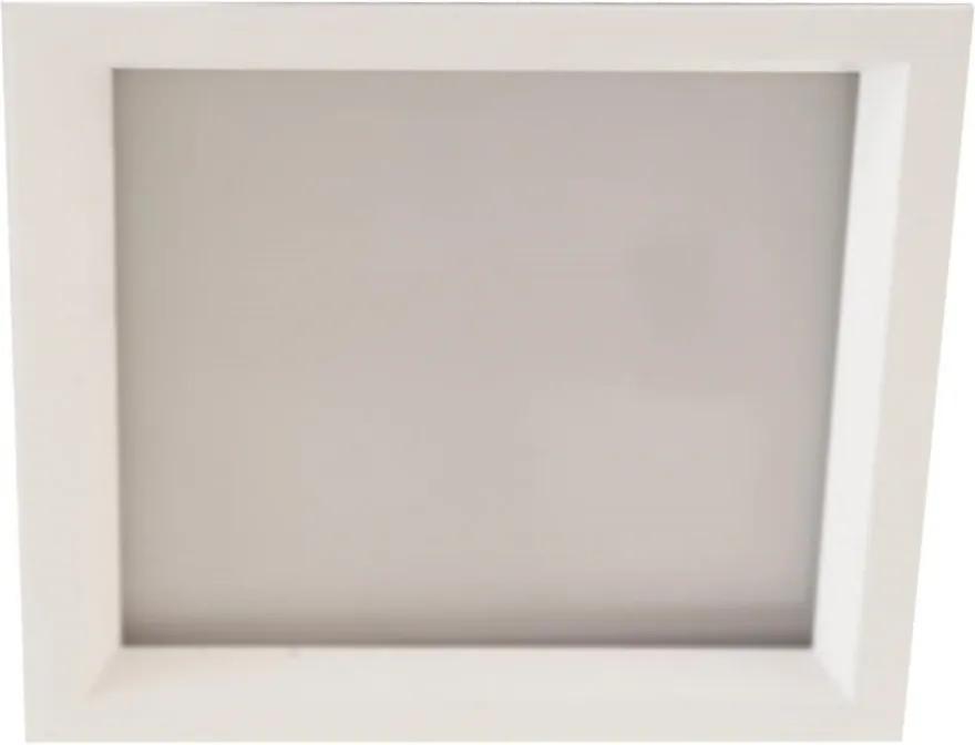 Plafon Embutir Aluminio Branco