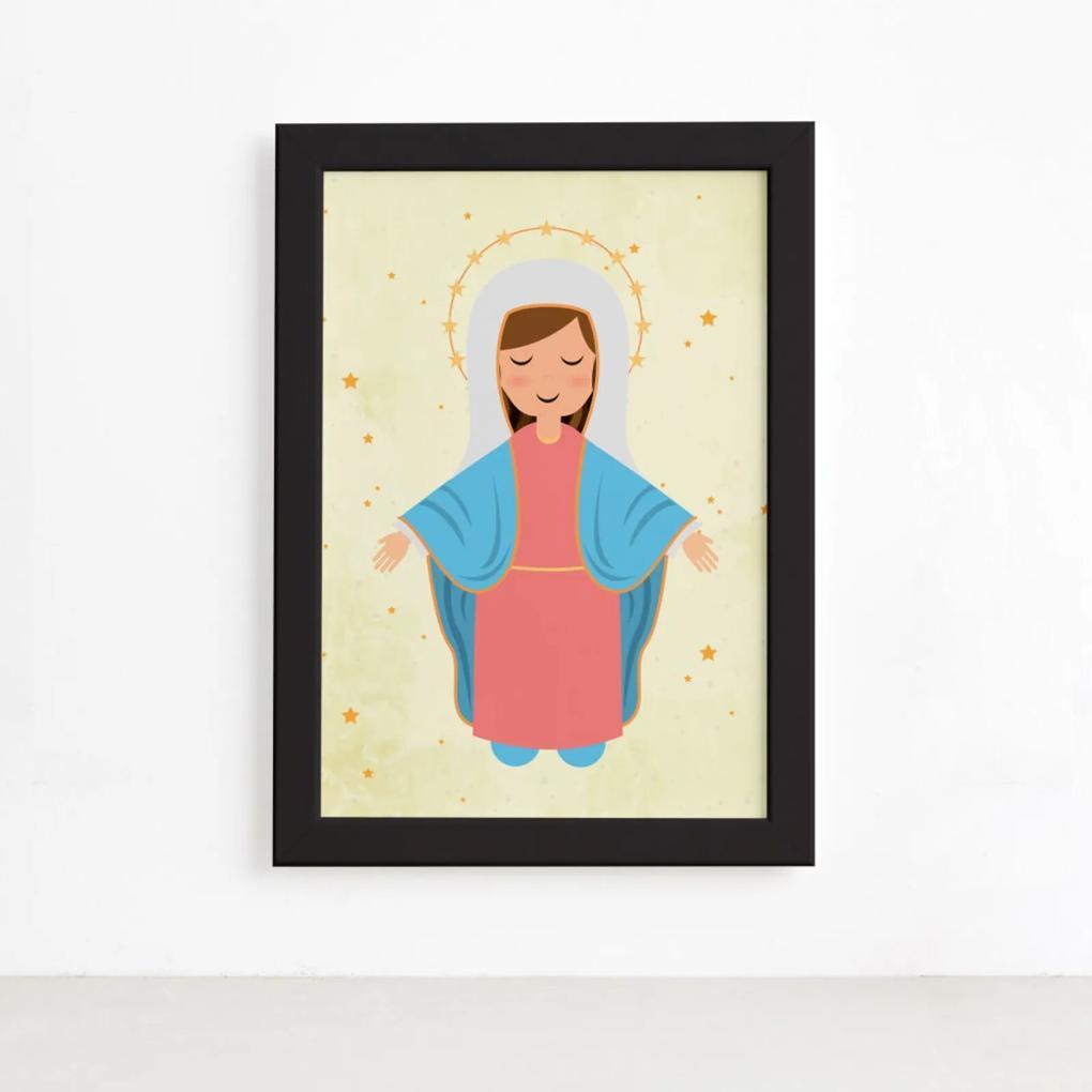 Quadro Nossa Senhora da AssunçÁo Moldura Preta 22x32cm