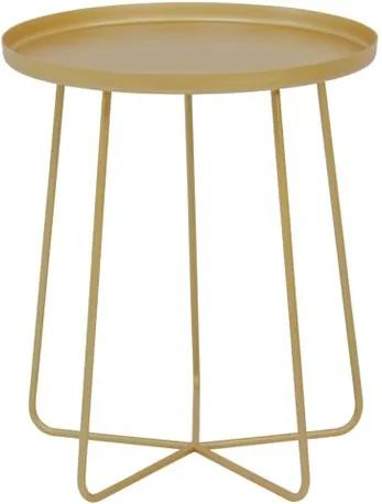 Mesa Apoio Trevo em Aco Carbono Cor Gold 40cm - 59965 Sun House